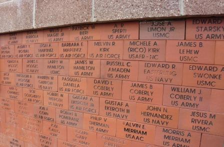 Bricks at Veterans Monument.JPG