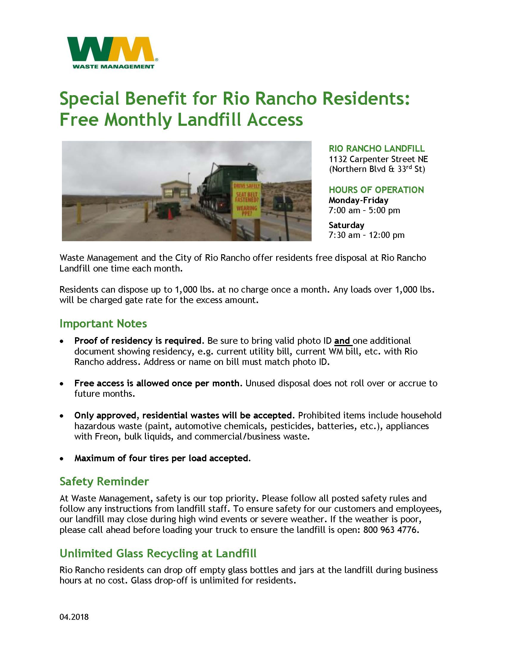 2018 Free Landfill Disposal Flyer_WM