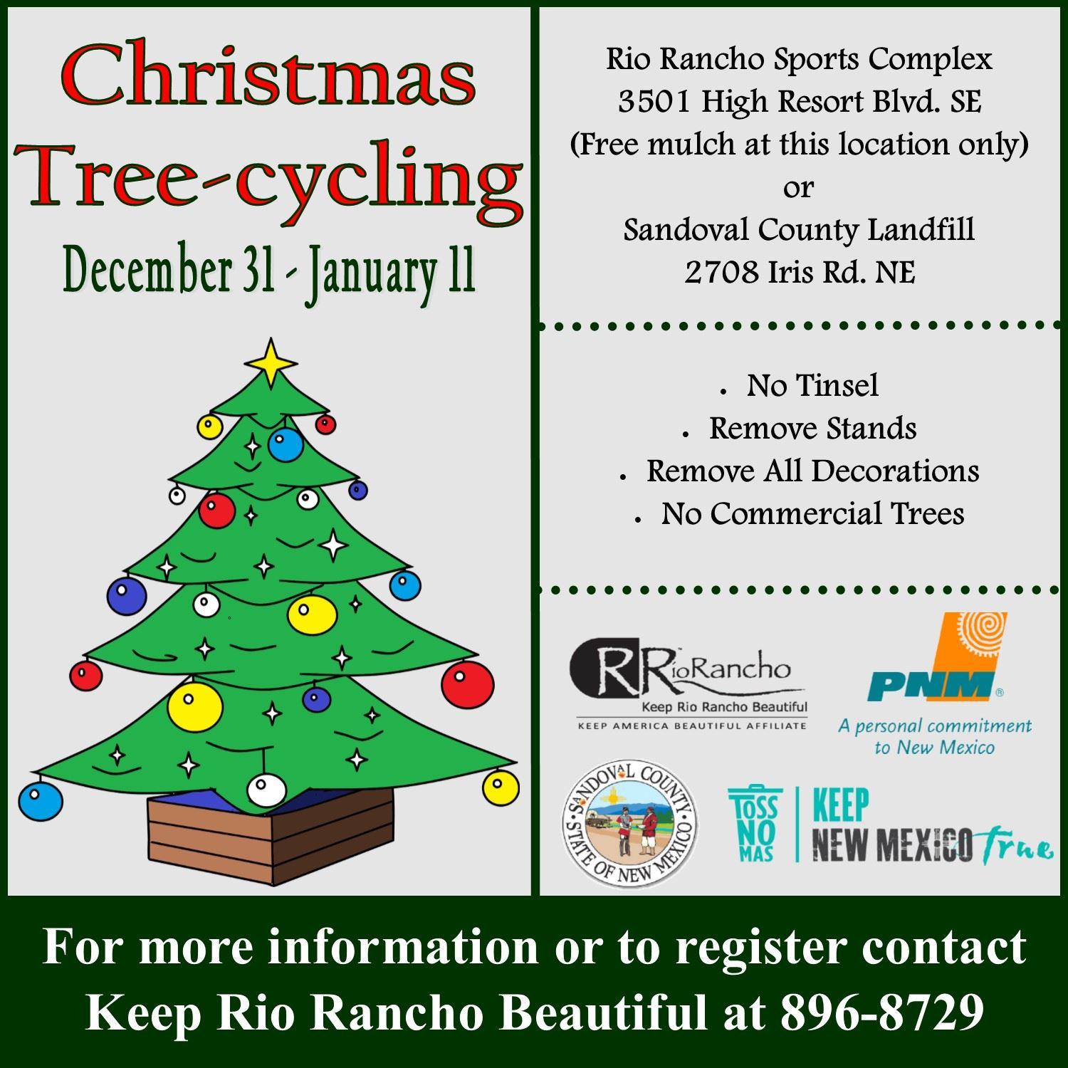 Christmas Tree Cycling The Official Site Of Rio Rancho Nm