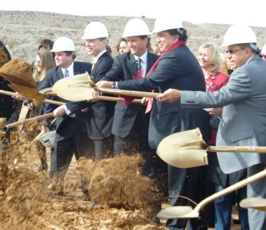photo of groundbreaking ceremony