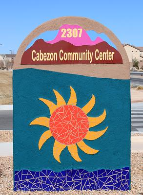 Cabezon Community Center Sign