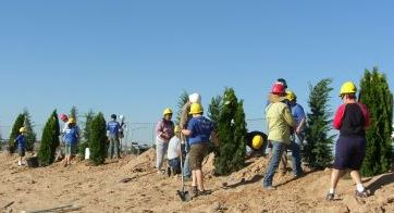 tree planting event photo