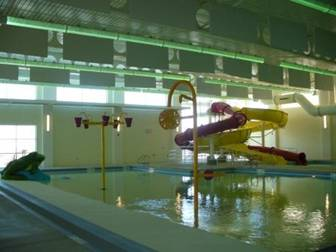 image of inside of aquatic center